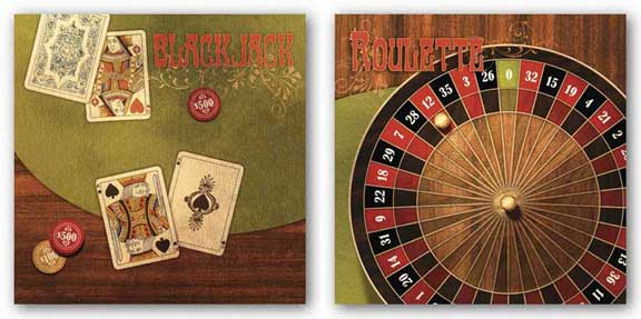Roulette and Black Jack Set by Studio Voltaire
