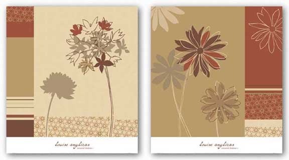 Botanical Shadows Set by Louise Anglicas