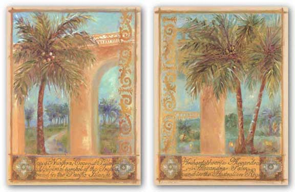Alexander Palm and Coconut Palm Set by Shari White