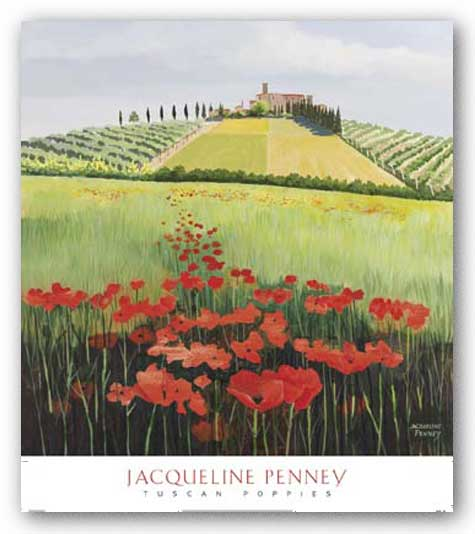 Tuscan Poppies by Jacqueline Penney