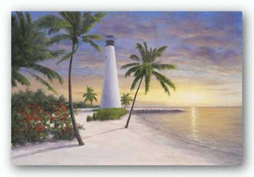 Lighthouse-Key Biscayne by Diane Romanello