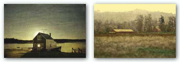 Exit 49, Image 2 and Cottage Silhouette Set by Doug Landreth
