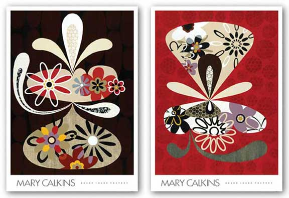 Flowers In Flight Set by Mary Calkins