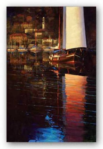 Lake Como Sunset Sail by Brent Lynch
