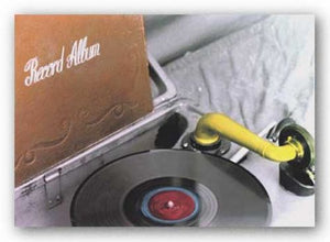 Phonograph With Record Album by April S. White