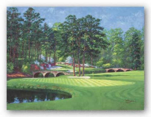 The 11th At Augusta-White Dogwood by Bernard Willington