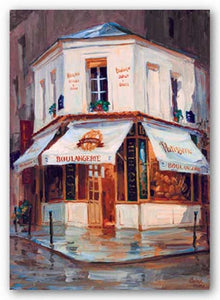 Bake Shop In The Rain, Paris by George Botich