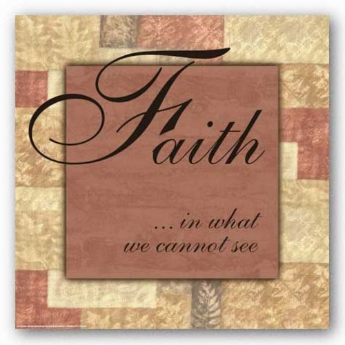 Words To Live By Butterscotch: Faith (pink center) by Angela D'Amico