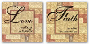 Words To Live By Butterscotch: Faith and Love Set by Angela D'Amico