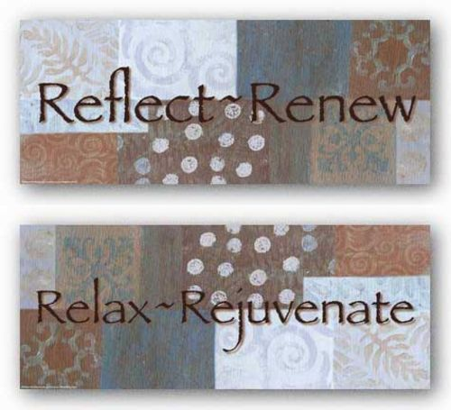 Words To Live By Blue/Brown: Relax and Reflect Set by Angela D'Amico