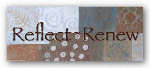 Words To Live By Blue/Brown: Reflect by Angela D'Amico