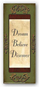 Words to Live By - Sage/Gold: Dream, Believe, Discover by Debbie DeWitt