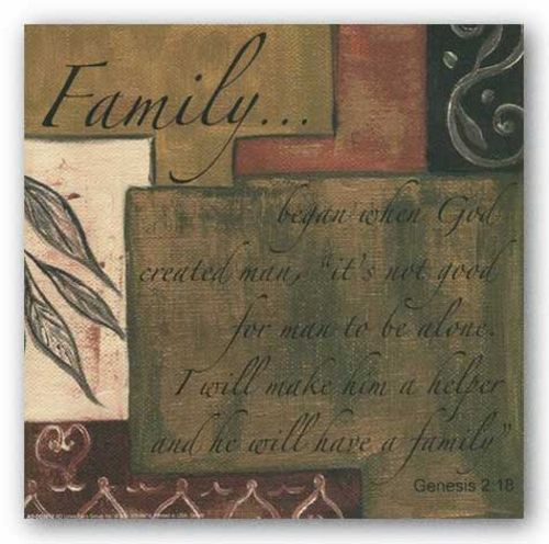 Words To Live By - Family by Debbie Dewitt