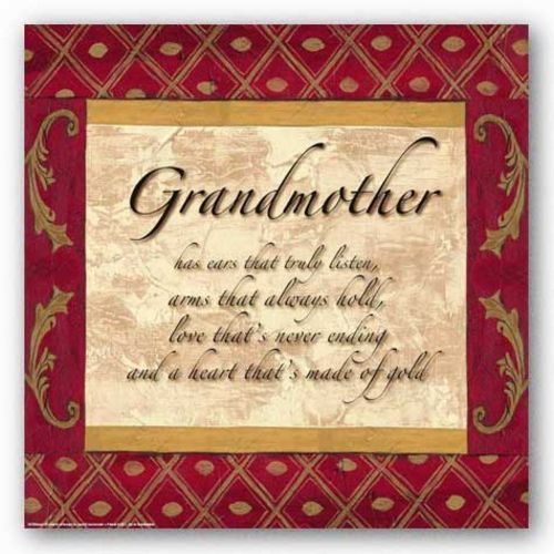 Words to Live By - Traditional - Grandmother by Debbie DeWitt