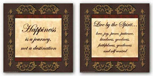Words To Live By - Brown/Gold Set by Debbie DeWitt