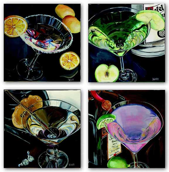 Martini Set by Debbie Dewitt
