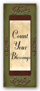 Words to Live By - Sage/Gold: Count your Blessings by Debbie DeWitt