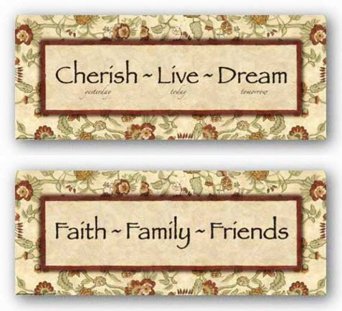 Words To Live By - Eduardian Floral Set by Debbie DeWitt