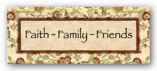 Words To Live By - Eduardian Floral: Faith Family Friends by Debbie DeWitt