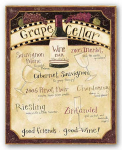 Wine Menu by Dan DiPaolo