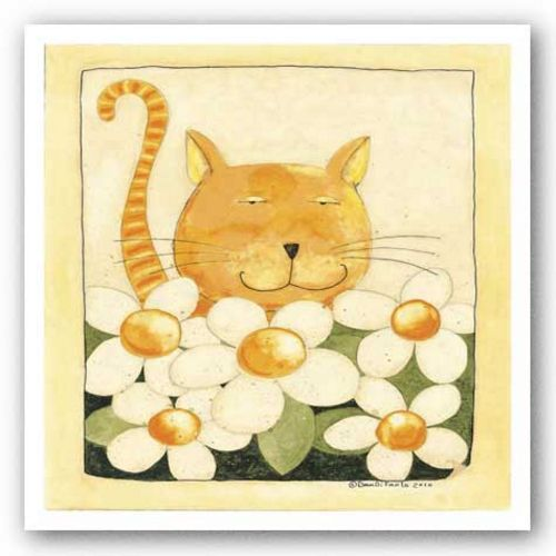 Kitty with flowers by Dan DiPaolo