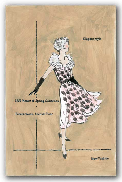 50's Department Store Ads Elegant Style by Del Walters