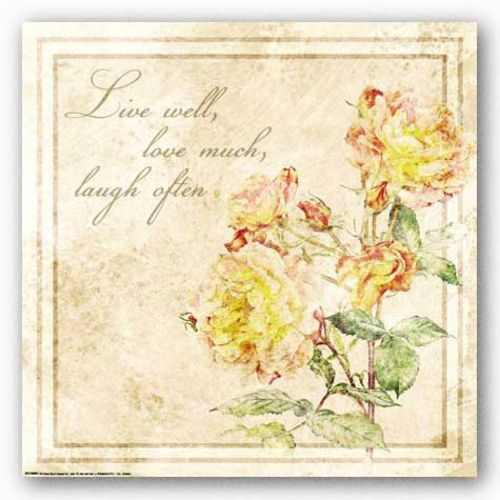 Florals: Live Laugh Love by Jessica von Ammon