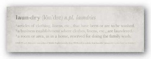 Definition Laundry II by Kristin Emery