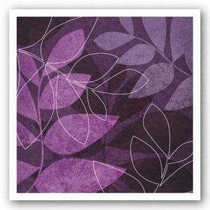 Purple Leaves I by Kristin Emery