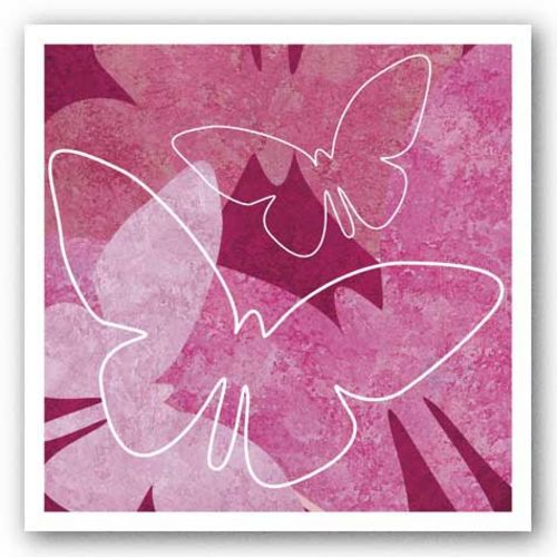 Butterflies Pink II by Kristin Emery