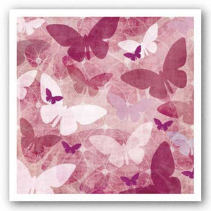 Butterflies Pink III by Kristin Emery