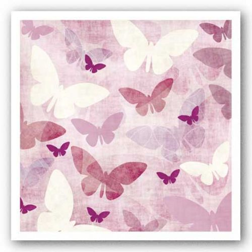 Butterflies Pink IV by Kristin Emery
