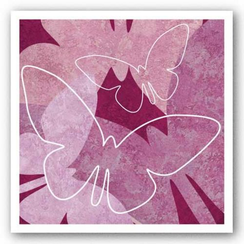 Butterflies Pink V by Kristin Emery