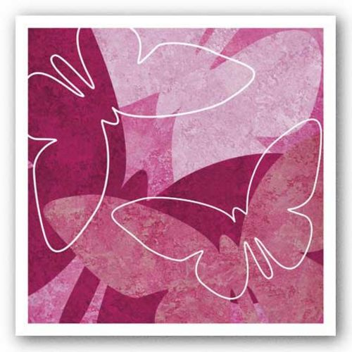Butterflies Pink I by Kristin Emery
