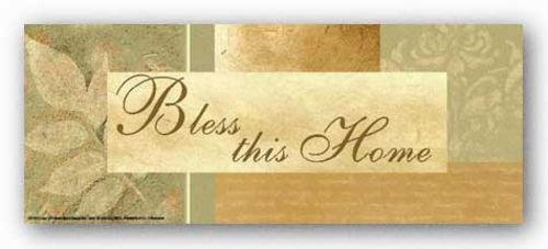 Words To Live By - Leaf: Bless this home by Marilu Windvand