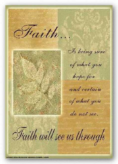 Words To Live By - Leaf: Faith is being sure by Marilu Windvand