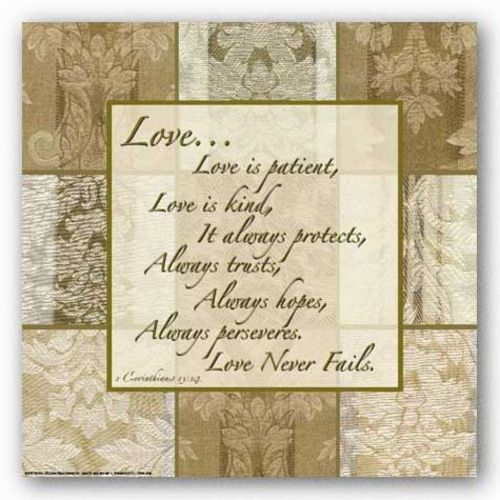 Words To Live By - Damask Silk: Love is Patient by Marilu Windvand