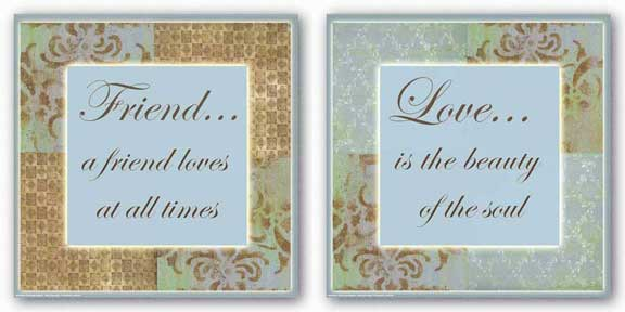 Words To Live By Blue Stencil Set by Marilu Windvand