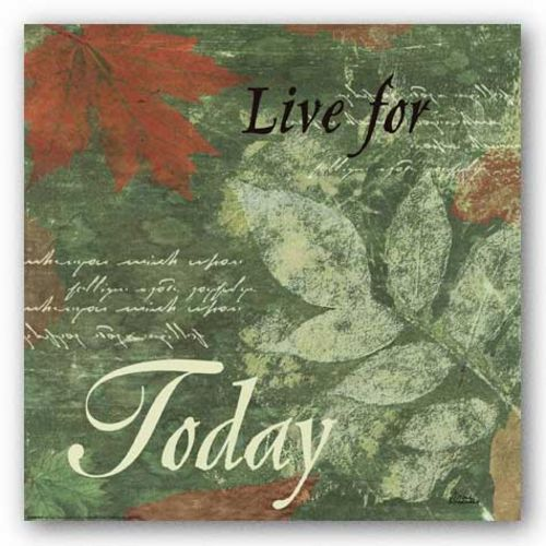Words To Live By, Pressed Leaf Today by Marilu Windvand