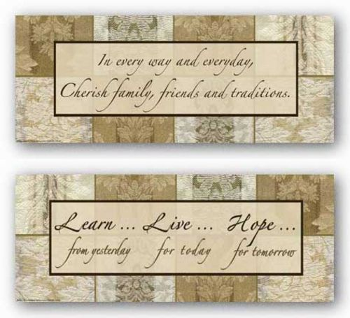 Words To Live By - Damask Silk Set by Marilu Windvand