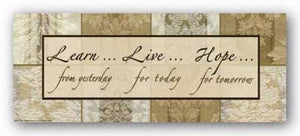 Words To Live By - Damask Silk: Learn Live Hope by Marilu Windvand