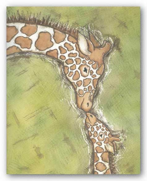 Giraffe Mother and Baby by Robin Davis