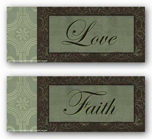 Words To Live By Sage/brown damask Set by Smith-Haynes