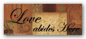 Words To Live By Patchwork: Love abides here by Smith-Haynes