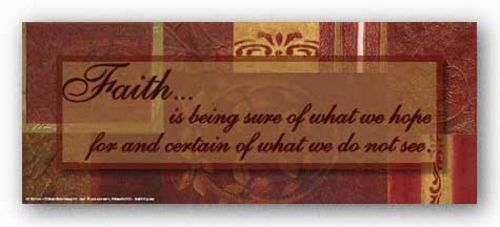 Words To Live By - Red Gold Patchwork: Faith by Smith-Haynes