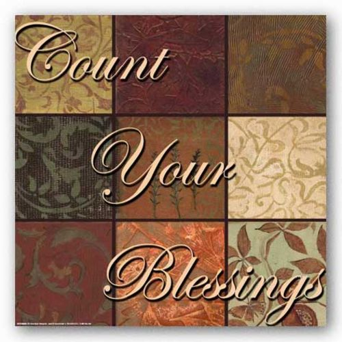 Words To Live By Damask: Count Your Blessings by Smith-Haynes