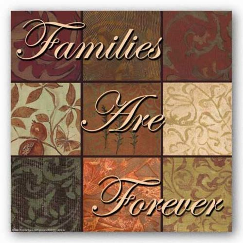 Words To Live By Damask: Families Are Forever by Smith-Haynes