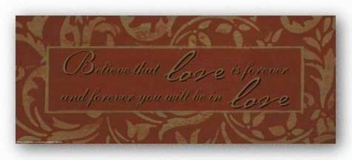 Words To Live By - Orange damask: Believe that Love by Smith-Haynes