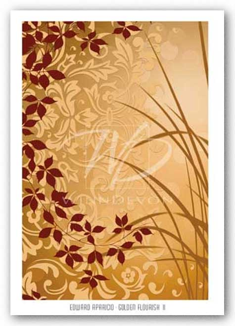 Golden Flourish II  - Foil - Luxor 397 by Edward Aparicio