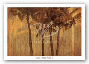 Sunset Palms III by Amori
